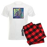 Pointillist Mayahuel Men's Light Pajamas
