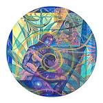 Pointillist Mayahuel Round Car Magnet