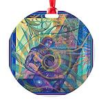 Pointillist Mayahuel Round Ornament