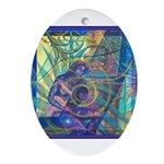 Pointillist Mayahuel Ornament (Oval)