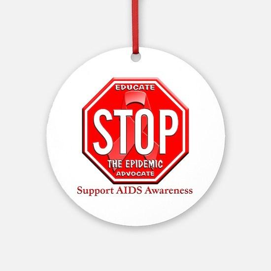 AIDS Awareness Ornament (Round)
