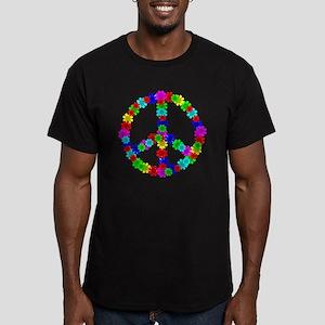 1960's Era Hippie Flow Men's Fitted T-Shirt (dark)