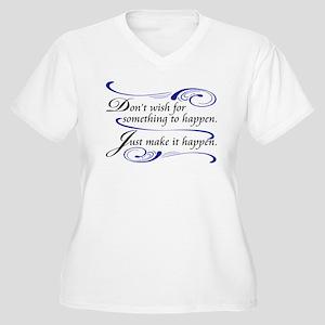 Make It Happen Women's Plus Size V-Neck T-Shirt