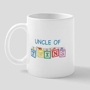 Uncle of Twins Blocks Mug