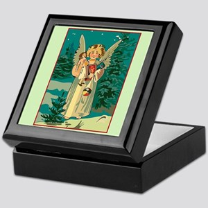 Christmas Angel in the Forest Keepsake Box