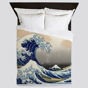 The Wave by Hokusai Queen Duvet