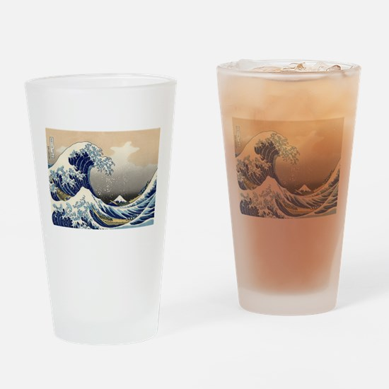The Wave by Hokusai Drinking Glass