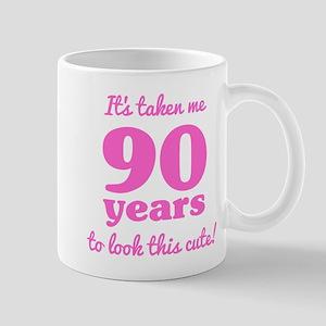 Cute 90th Birthday For Women Mugs