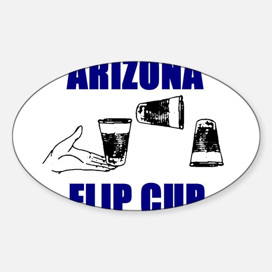 Arizona Flip Cup Oval Decal