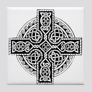 Celtic Cross 19 Tile Coaster