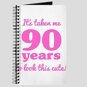 Cute 90th Birthday For Women Journal