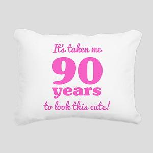 Cute 90th Birthday For W Rectangular Canvas Pillow