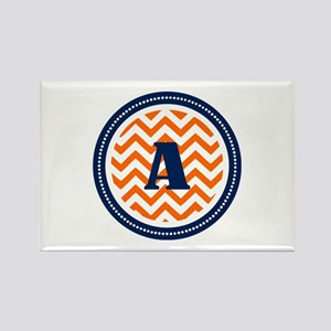 Orange & Navy Rectangle Magnet