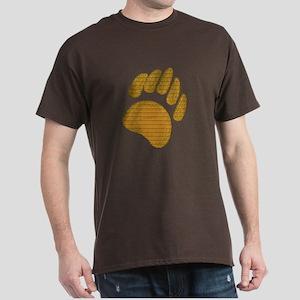 GOLD BEAR PAW 2 Dark T-Shirt