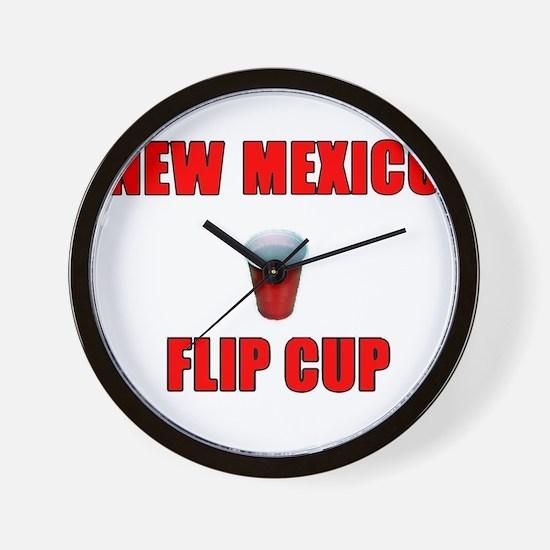 New Mexico Flip Cup Wall Clock