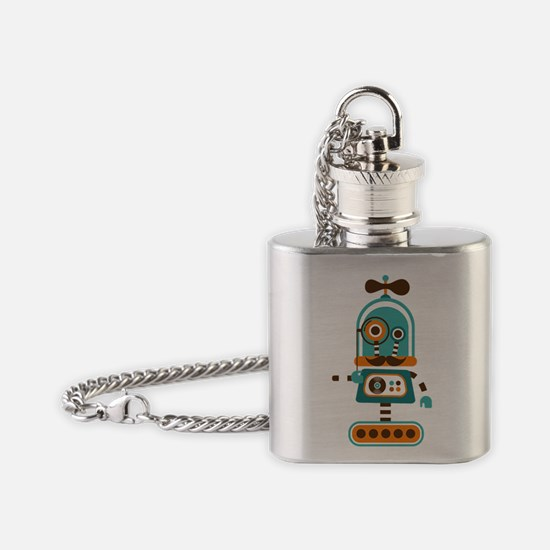Funky Robot 4 Flask Necklace