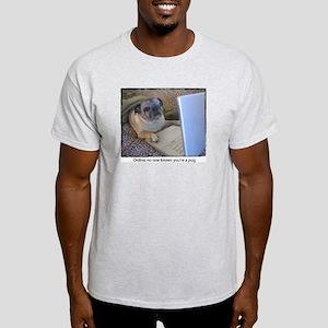 Online Pug Ash Grey T-Shirt