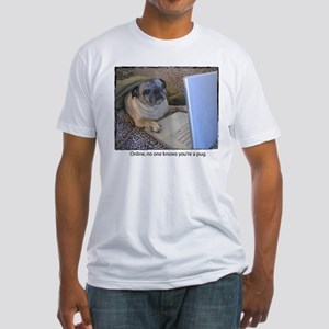 Online Pug Fitted T-Shirt