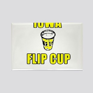 Iowa Flip Cup Rectangle Magnet