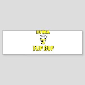 Iowa Flip Cup Bumper Sticker