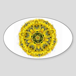 Daisy Mandala Oval Sticker