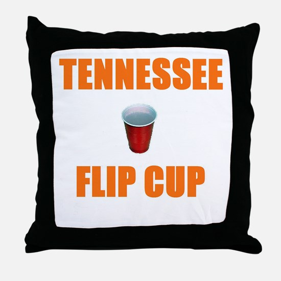 Tennessee Flip Cup Throw Pillow