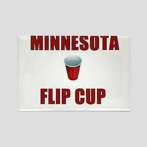 Minnesota Flip Cup Rectangle Magnet
