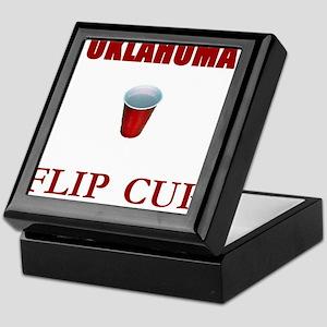 Oklahoma Flip Cup Keepsake Box
