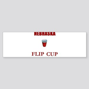 Nebraska Flip Cup Bumper Sticker