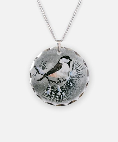 Black Capped Chickadee Bird Necklace