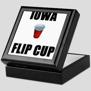 Iowa Flip Cup Keepsake Box