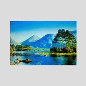Mountain Lake Rectangle Magnet