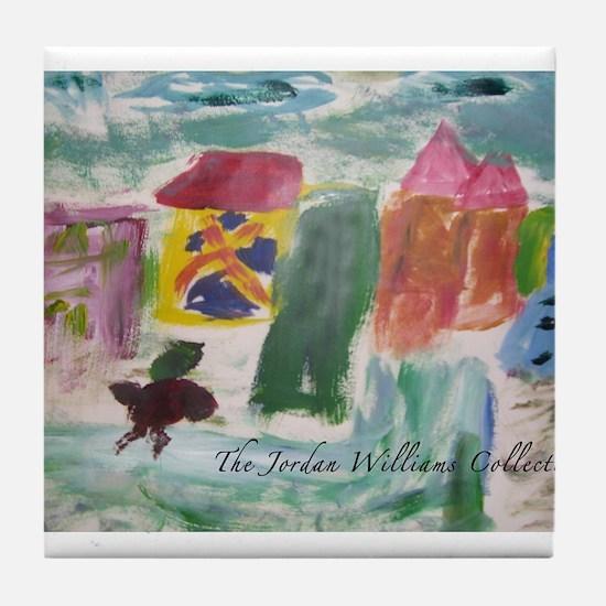 """Color Town"" Tile Coaster"