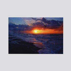 Sunrise Over The Atlantic Ocean Rectangle Magnet