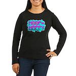 HOOP=HAPPY Women's Long Sleeve Dark T-Shirt