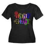 HoopSlut Women's Plus Size Scoop Neck Dark T-Shirt