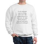 Right to Books Large Sweatshirt