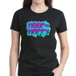 HOOP=HAPPY Women's Dark T-Shirt