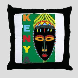 Kenyan Mask Throw Pillow