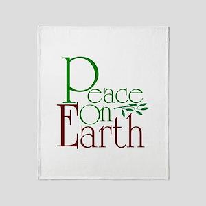 Peace On Earth Throw Blanket