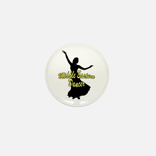 Middle Easter Dancer Yellow Mini Button