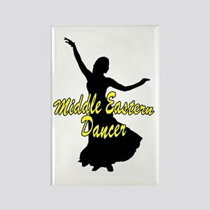Middle Easter Dancer Yellow Rectangle Magnet