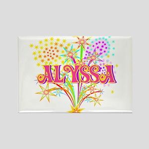 Sparkle Celebration Alyssa Rectangle Magnet