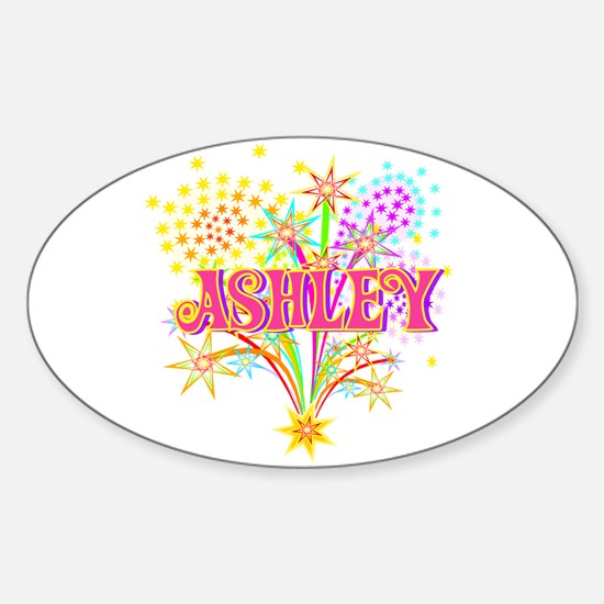 Sparkle Celebration Ashley Oval Decal
