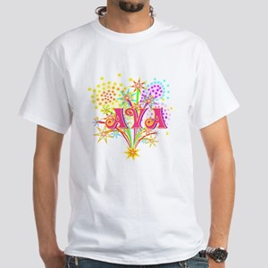 Sparkle Celebration Ava White T-Shirt