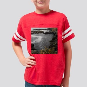 Seal Rock Coastal Scene Youth Football Shirt