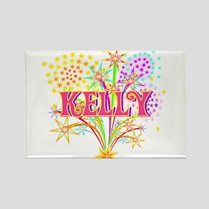Sparkle Celebration Kelly Rectangle Magnet