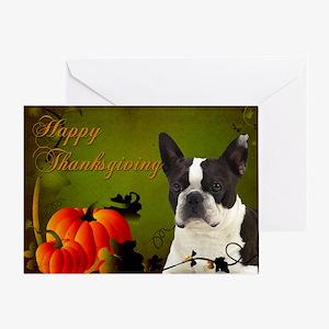 Boston Terrier Thanksgiving Card