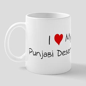 I Love Punjabi Desert Cat Mug