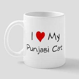I Love Punjabi Cat Mug
